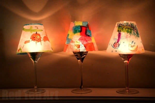 Gifts kids can make kid art lamps red ted arts blog kid art lantern craft make your own lampshades sml aloadofball Image collections