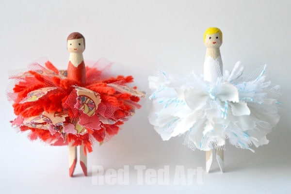 Pom Pom Dolly Peg Fairies
