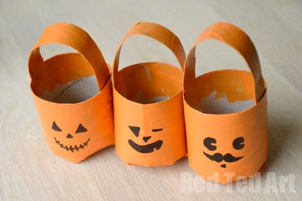 Halloween Crafts: TP Roll Treat Buckets - Red Ted Art\'s Blog