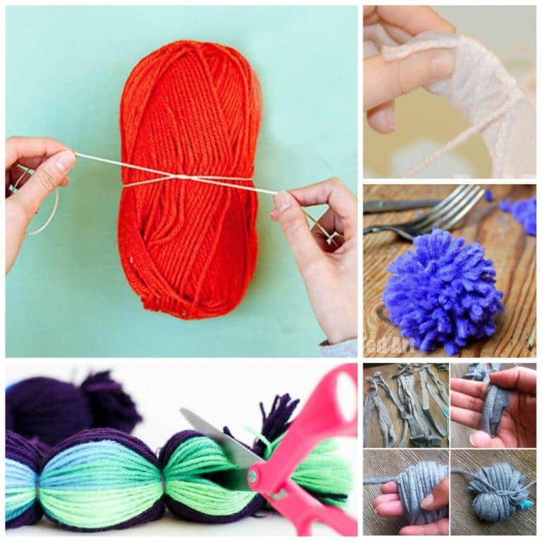"If you have ever wanted to learn How to make a Yarn Pom Pom.. then you have to take a look at these pom pom making techniques! From giant pom poms, to ""mass produced"" pom poms, to good ol' cardboard discs. It is all here. Which is YOUR favourite way to make pom poms? #howtomakeapompom #pompom #pompoms #pompomhowto"