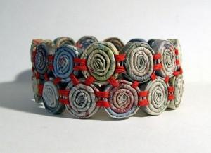Recycled Newspaper Craft Ideas - newspaper bracelet
