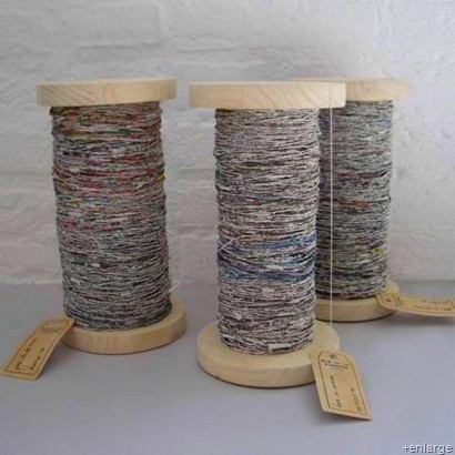 newspaper crafts - newspaper yarn