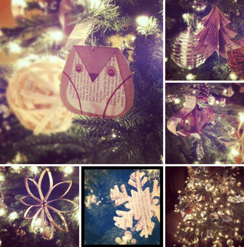 newspaper crafts ornaments