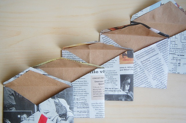 newspaper envelopes