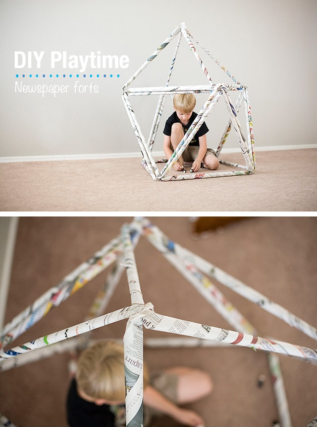 Newspaper Craft Ideas For Kids Part - 43: Make Newspaper Forts ...