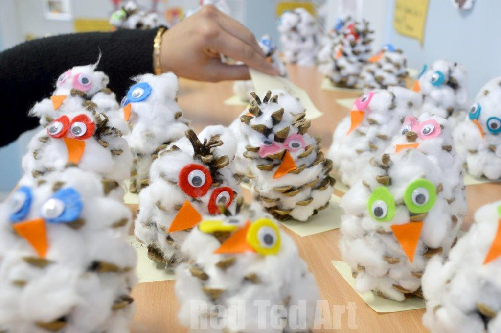 pinecone owls for preschoolers