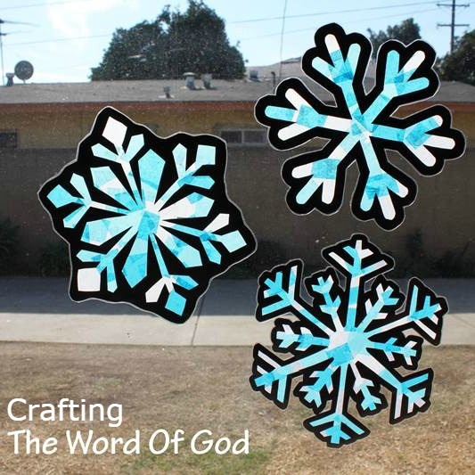 snowflake suncatchers