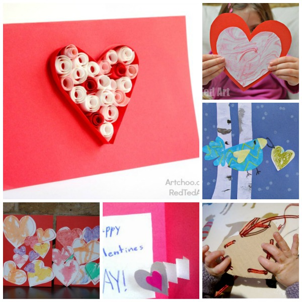 20 Card Making Ideas for Kids Red Ted Arts Blog – Create Valentine Cards