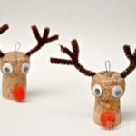 Christmas Ornaments - Reindeer Cork Craft