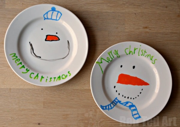 Christmas Plates - Gifts That Kids Can Make