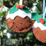 Christmas Pudding Felt Ornament