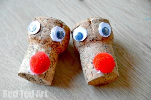Cork Crafts - Reindeer Ornaments