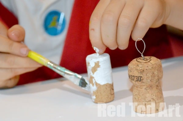 Cork Crafts - Snowmen Ornaments