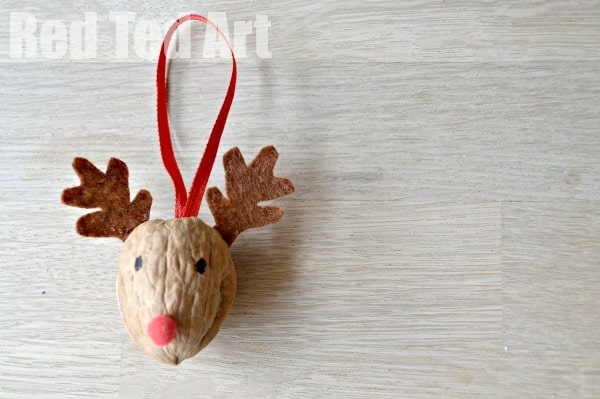 Cute Reindeer Ornament - Walnut Crafts