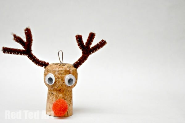 Reindeer Ornaments - Cork Crafts