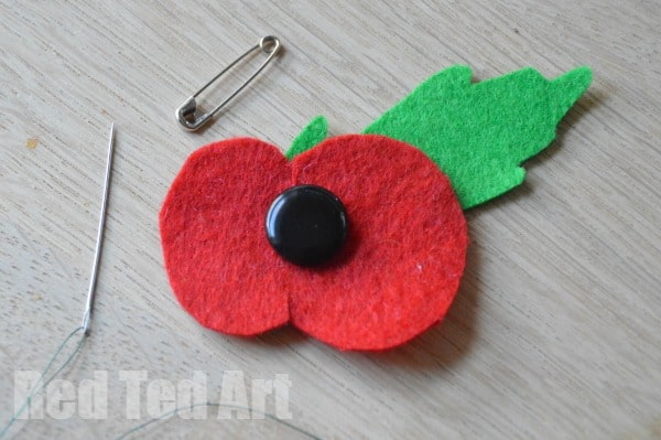 Remembrance Sunday Diy Felt Poppy Red Ted Arts Blog