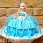 Elsa Barbie Doll Cake