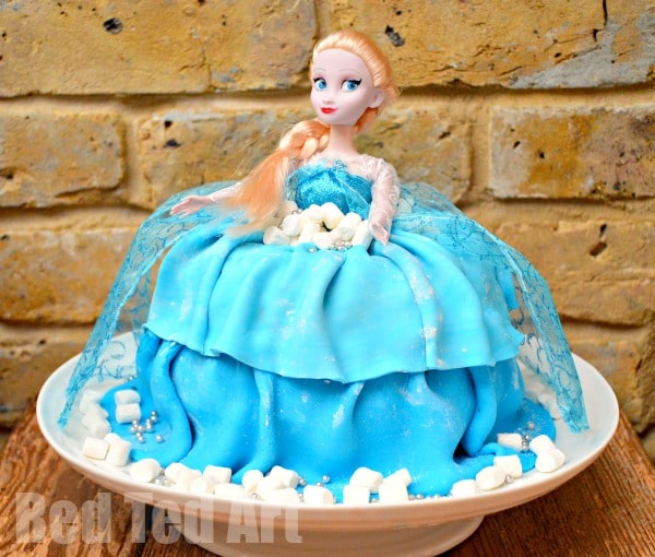 Easy Doll Cake Images : Elsa Barbie Doll Cake - Red Ted Art s Blog
