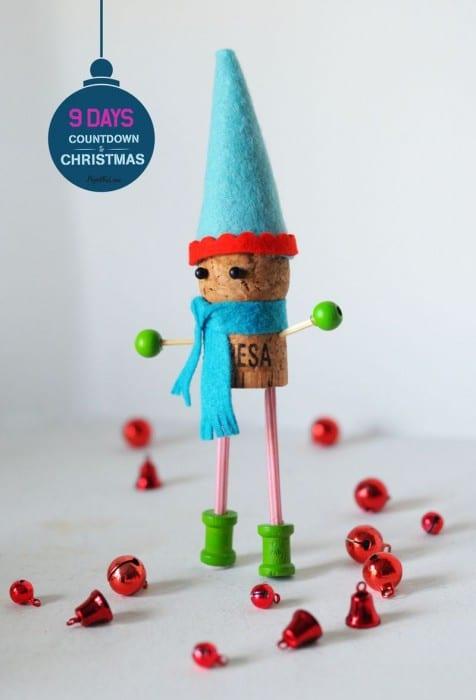 Festive Cork Crafts - Elf Cork