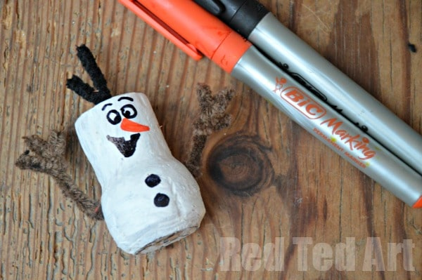 Frozen Crafts -- Olaf Cork Snowman