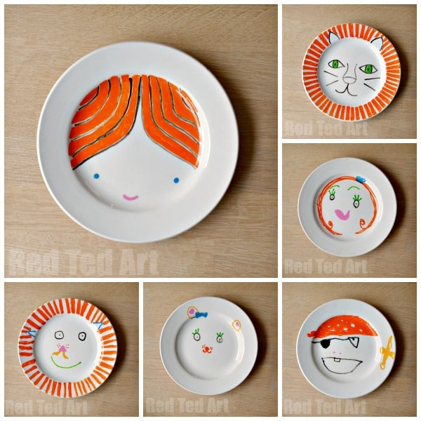 Kids Art Plates Gifts Kids Can Make Red Ted Art