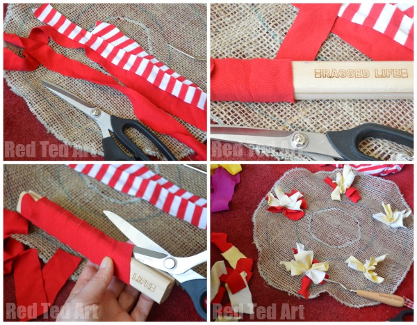 How To Make A Christmas Rag Wreath Easy Red Ted Art S Blog