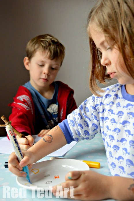 Kids Art Plates - Gifts Kids Can Make
