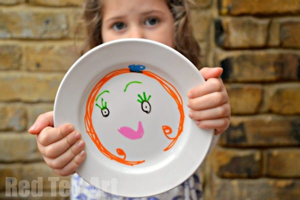 Kids Art Plates - Gifts for Kids to Make