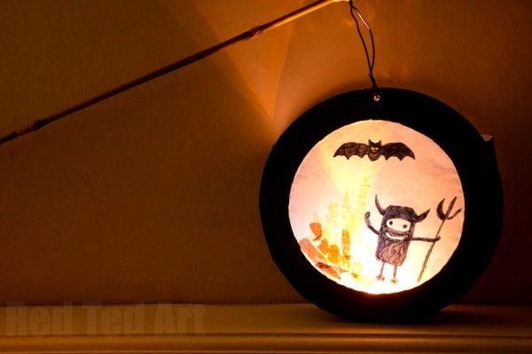 Paper Plate Crafts - Lantern for kids