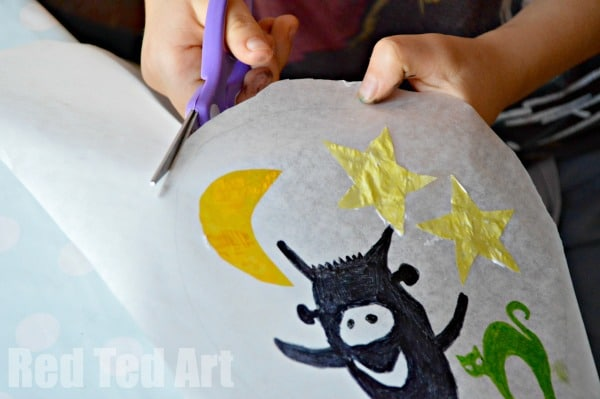 Paper Plate Crafts - lanterns