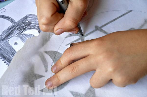 Paper plate lantern craft