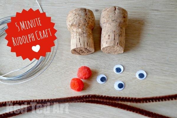 Quick Chritmas Ornament Reindeer Craft