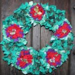 Rag Rug Wreath – Recycled Christmas