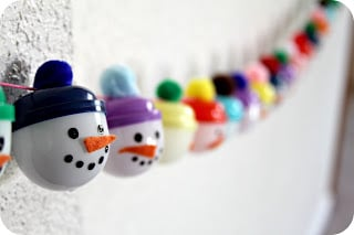 Snowman Advent Garland