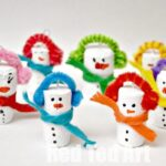 Snowman Crafts - Cork Ornaments for Kids