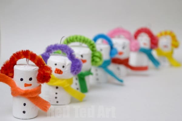 30 Easy Snowman Crafts Red Ted Art