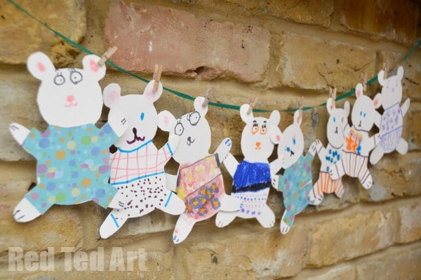 Teddy Bear Cards for our Pyjama Party Invites