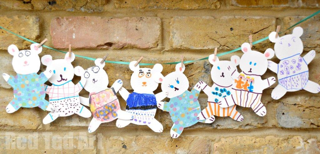 Teddy Bear Cards - invites for our Pajama Party