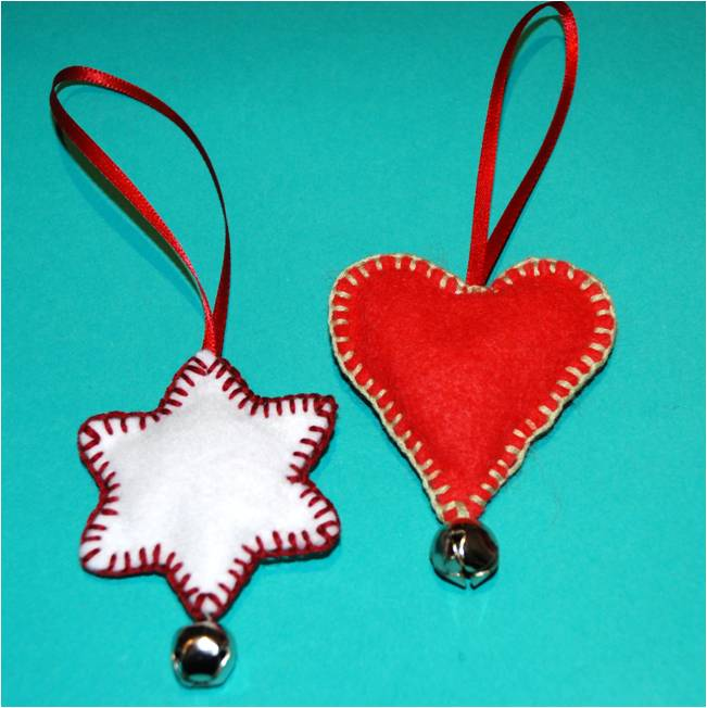 cookie cutter felt ornaments
