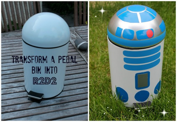 r2d2 bin - star wars crafts