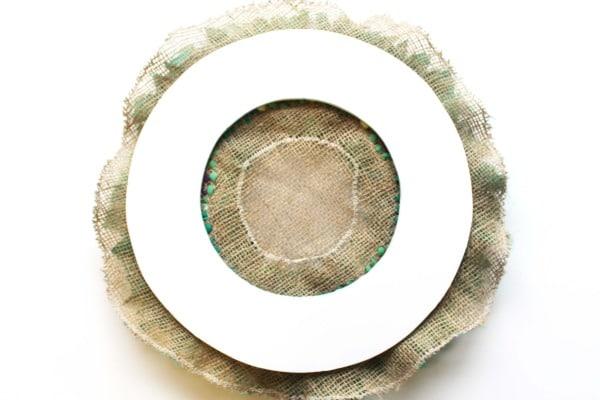 rag rug wreaths - recycled christmas