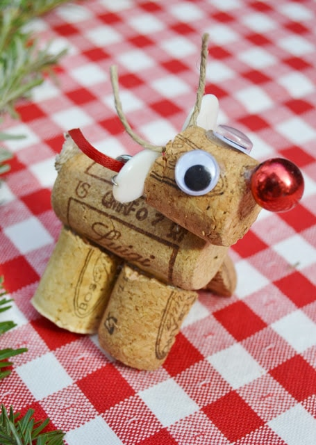 reindeer christmas cork craft