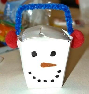 snowman crafts - gift box