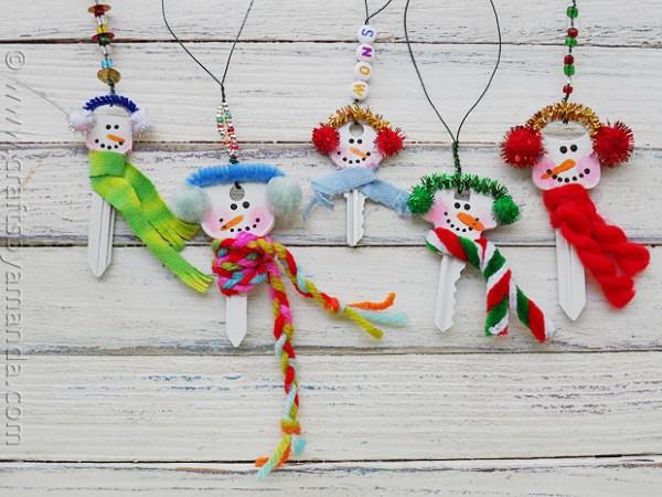 snowman crafts - keys