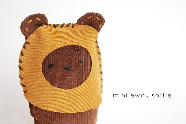 star wars crafts - ewok softie
