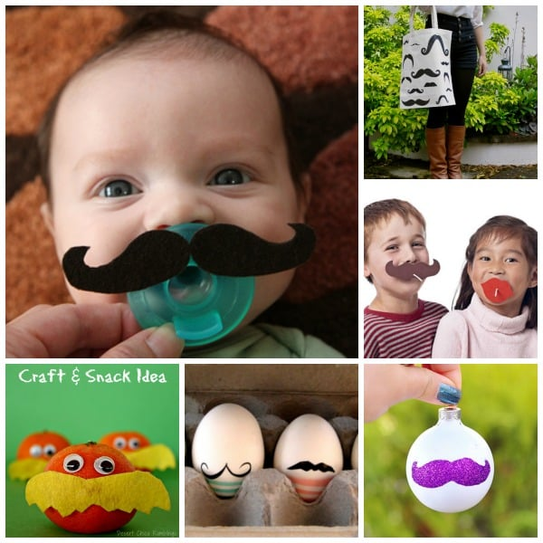 30 Mustache Crafts - fun with Mustaches, be it because you love a tash or because you are embracing Movember