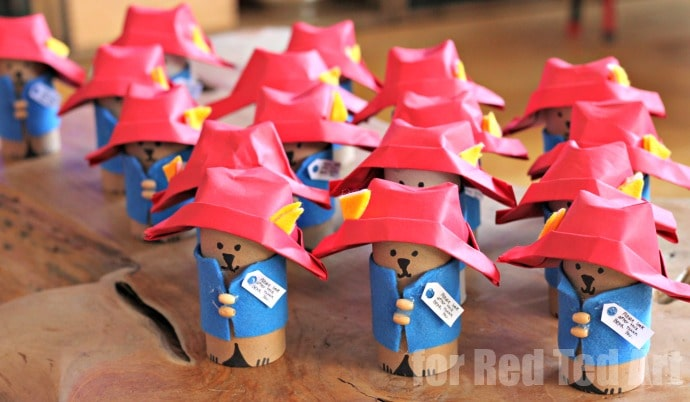 Adorable Padding Bear Goodie Bag Set - make your own TP Roll Paddington Bear, perfect for that Paddington Bear Party!