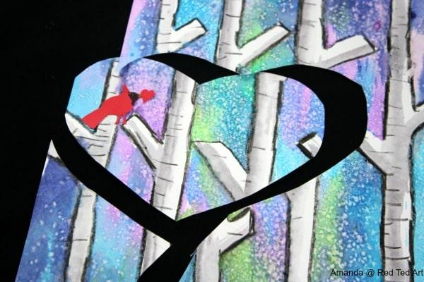 Birch Tree Heart Cut Out