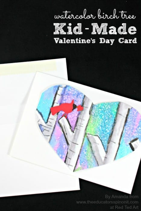 Birch Tree Valentine's Day Card