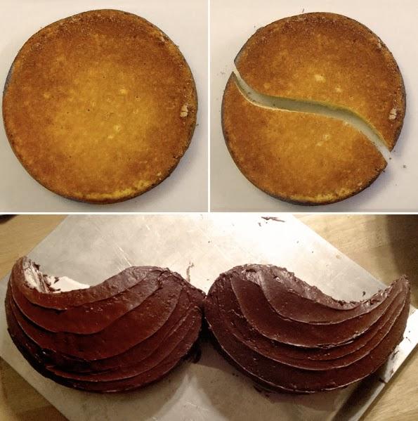 DIY Moustache Cake